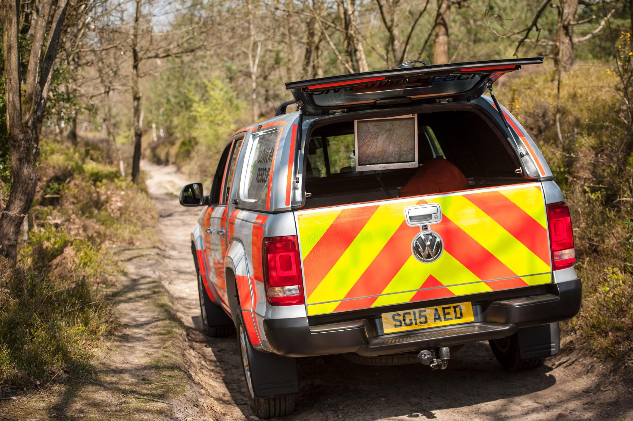 the vw amarok search and rescue vehicle