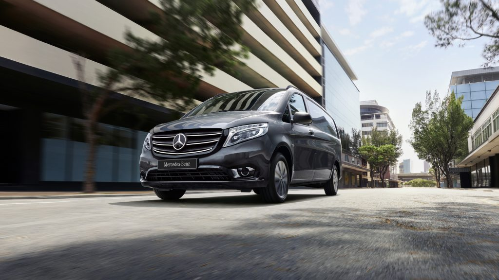 The new Mercedes Vito van pictured