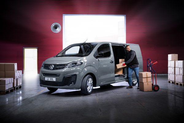 Man loading Vauxhall Vivaro-e