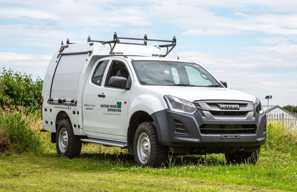 The Izuzu D-Max Utility ready for work