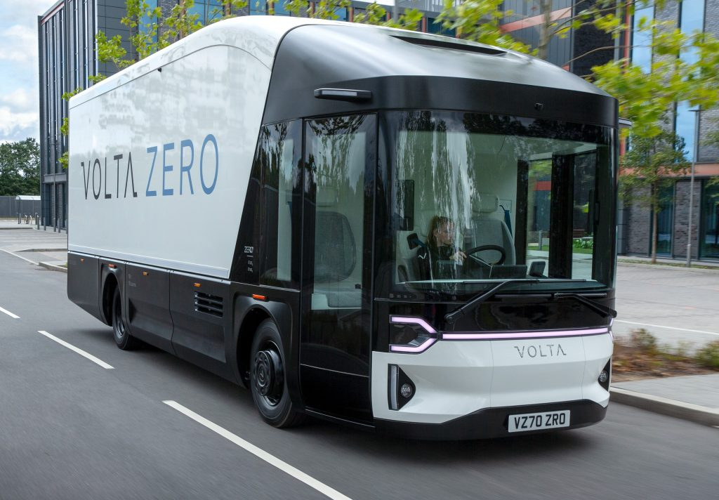 Volta Zero by Volta Trucks on the move