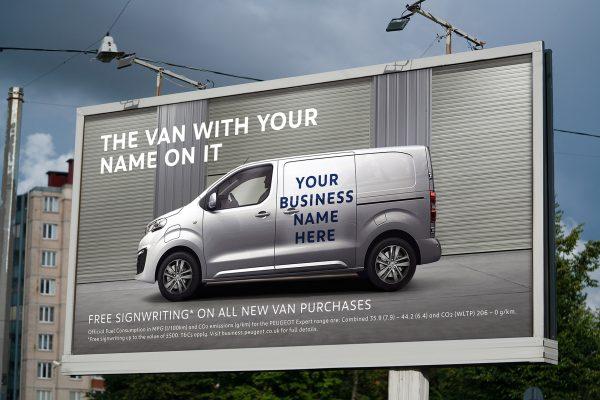 Peugeot van billboard
