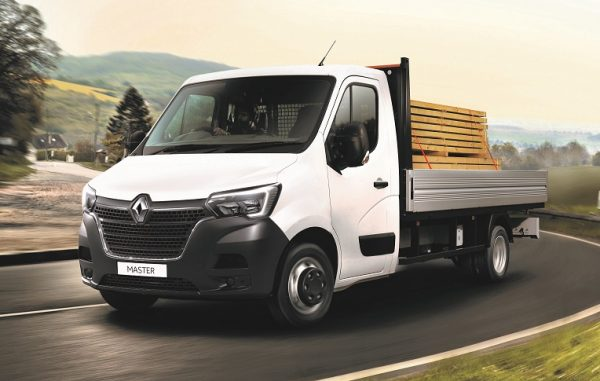 Renault Master Dropside being driven