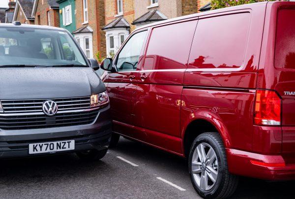 Van drivers two VW vans